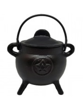 11cm Pentacle Cast Iron Cauldron