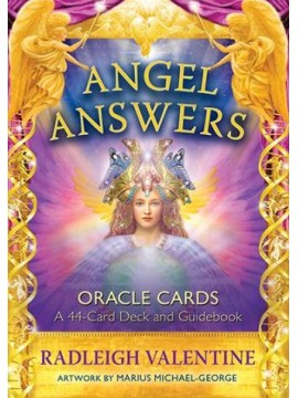 Angel Answers Oracle Cards : A 44-Card Deck and Guidebook 2nd Edition by Radleigh Valentine