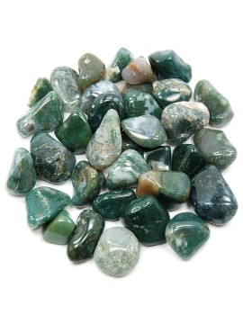 Green Moss Agate Tumbled Crystal